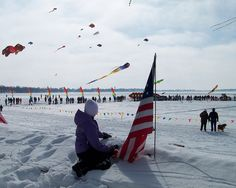 Color the Wind Festival in Clear Lake Iowa in the middle of winter in February