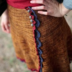 Ravelry: Prairie Point pattern by Ana Clerc. Not sure I'd wear a crochet skirt, but I like the idea of an a-line wrap skirt with a crocheted border...