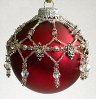 Fire & Ice Crystal Slide & Seed Bead Ornament Cover