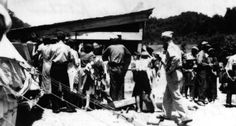 July, 1939 -- The Red Cross soup kitchen at Vancleve, Kentucky, after the great Frozen Creek cloud burst flood.