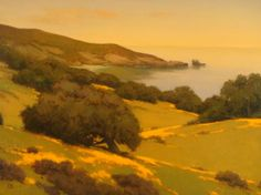 """Meadow along the Central Coast"" 36"" x 48"" - Brian Blood - Oil on Canvas"