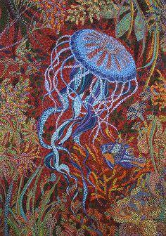 Red Reef painting by Erika Pochybova-Johnson