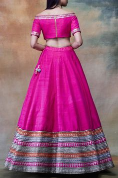 Shop Vvani by Vani Vats Embroidered Lehenga Set , Exclusive Indian Designer Latest Collections Available at Aza Fashions Indian Bridesmaid Dresses, Indian Gowns Dresses, Indian Fashion Dresses, Indian Wedding Outfits, Indian Designer Outfits, Indian Outfits, Designer Dresses, Half Saree Designs, Choli Designs