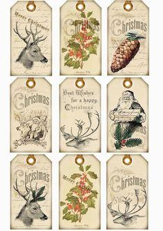 Scrap Home Schoоl Noel Christmas, Christmas Gift Tags, Christmas Paper, Christmas Wedding, Vintage Christmas Images, Christmas Pictures, Vintage Tags, Etiquette Vintage, Christmas Journal