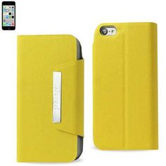 MAGNET FLIP SMOOTH LEATHER CASE Apple iPhone 5C YELLOW