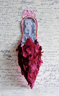 In the style of Marie Antoinette: Marie Antoinette's Playhouse on Tumbler Marie Antoinette, Sculpture Textile, Rose Fushia, Periwinkle, Magenta, Fairy Shoes, Paper Shoes, Shoe Gallery, Shoe Art