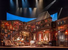 Behind the scenes of You Can't Take It With You on Broadway @smileykyliekoo if only our set would look like this..