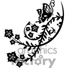 chinese swirl floral design 064