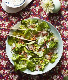 Bibb Salad With Basil-Buttermilk Dressing