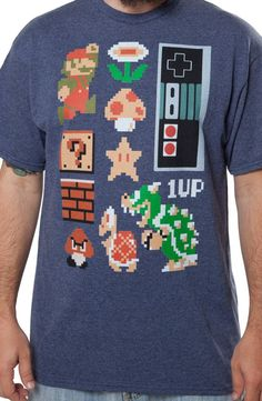 Original NES Guys Shirt: Video Games Nintendo Super Mario Bros T-shirt