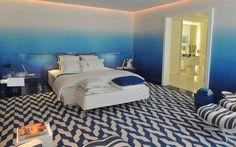 Suite master azul em degrade e iluminação com LED. http://twixar.me/9Wg