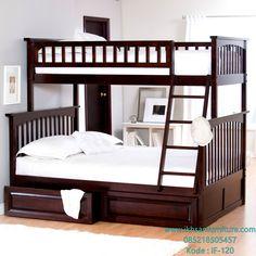 JualTempat Tidur Tingkat Kayu Jati Modern ModelTempat Tidur Tingkat…
