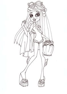 Monster High Pets Coloring Pages Monster High Minnie Taur by