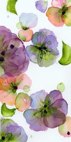 Fine Art Print of Pansies, Modern Botanical Art Print. This is a 5 x 10 inch fine art print of my original watercolor painting Pansy Fall. Abstract Watercolor, Watercolor And Ink, Watercolor Flowers, Watercolor Paintings, Watercolor Portraits, Watercolor Landscape, Watercolor Artists, Abstract Paintings, Watercolors