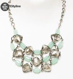 As Seen On CityLine. Le Chateau: Stone & Glass Cluster Necklace, $29.95
