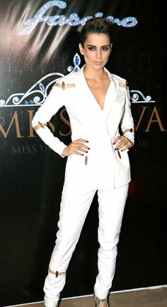 Kangana Ranaut seen in a Nikhil Thampi pantsuit at a Miss Universe event. #Bollywood #Fashion #Style #Beauty #Sexy