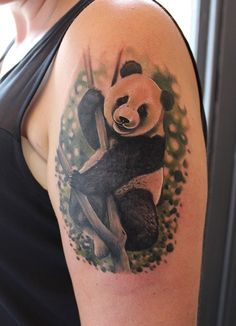 My latest tattoo one hour after inked. Done by the amazing Emilio Winter at True Colour Sanctuary in York. #tattoo #panda #beautiful #amazing