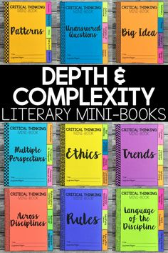 Add some depth and complexity to your students' responses to literature.  These literary mini books can be used as a concluding project once students have finished a novel, or they can be completed based on smaller reading selections within a book (chapters, pages, etc.).