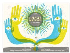Local Natives Concert Poster by Delicious Design League (great name!).    postercabaret.com