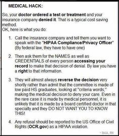 If your test or treatment is denied by your health insurance company...