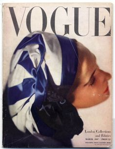 """Vogue"" COVER--British (Mar 1947) ~ London Collections and Fabrics _____________________________ Reposted by Dr. Veronica Lee, DNP (Depew/Buffalo, NY, US)"