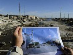 Epecuen argentina - once a street/pre flood - before and after photo   Antes y después. La foto muestra cómo era la Villa antes de que la ...