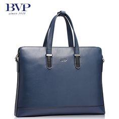 BVP High-end Mens Cowhide Storage Holdall Briefcase Laptop Case Shoulder Bags
