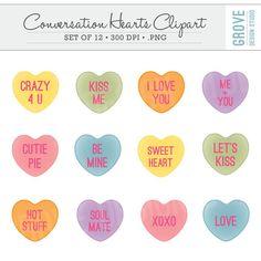 Valentine's Day Hearts Clipart Clip Art Love by SandyDigitalArt ...