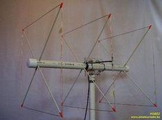 quad a tre elementi Radios, Wifi, Ham Radio Antenna, Radio Frequency, Arduino, Quad, Backpack, Hams, Radio Activity