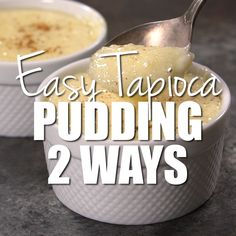 The best ever, easy tapioca pudding recipe that is ready in only 25 minutes. You'll love the simple vanilla flavor in this old fashioned recipe. Jello Pudding Desserts, Custard Desserts, Pudding Recipes, Custard Rice Pudding, Pudding Pies, Tapioca Flour Recipes, Easy Tart Recipes, Sweet Recipes, Puddings