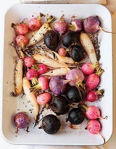 Roasted radishes! Salt and some olive oil and voila...