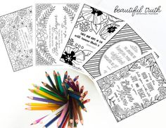 HOPE Bundle Printable Coloring Pages Christian Coloring