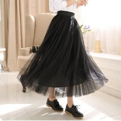 2016 Spring Autumn All-match Chiffon Skirt Slim Pleated Summer Skirt For Women Department Double Gauze Long Skirts Wholesale  #Affiliate