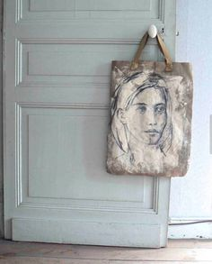 Very cool (and doable) painted tote.