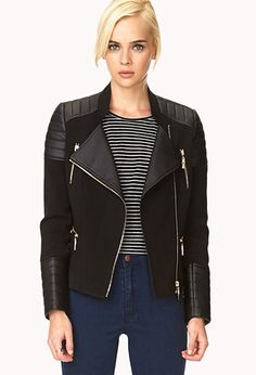 I want this so bad!! Moto Babe Faux Leather Jacket | FOREVER21 - 2000064122