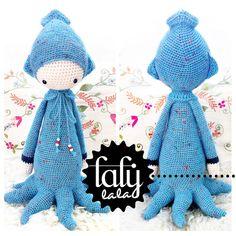 Crochet Pattern Doll OLEG the octopus / squid / door lalylala, €5.50