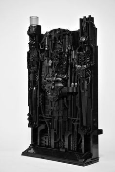 The best Lego Aliens in honor of H.R. Giger. Recreation of a Giger art piece.
