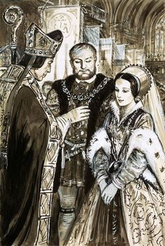 January 25th,  1533, St Paul's Day, King Henry VIII married Anne Boleyn in a secret ceremony at Whitehall.
