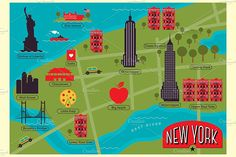 Paris, New York, Rome, Amsterdam and Istanbul City Map illustrations. Each cities have two different color options. Ciudad New York, Central Park Map, Bosphorus Bridge, New York 2017, New York City Map, Dam Square, Istanbul City, New York Life, Map Globe