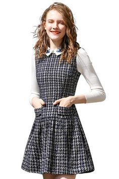 Unique girly dresses in playful print, quirky print, floral print & retro print. Mod and cute clothes for petite women. Girly Outfits, Cute Outfits, Petite Women, Ruffle Top, Frocks, Tweed, Girl Fashion, Floral Prints, Unique