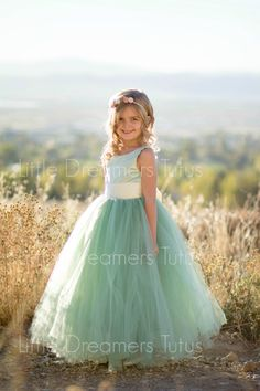 e227b4a33 Items similar to The Juliet Dress in Sage Green - Flower Girl Tutu Dress on  Etsy