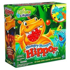 One repetitive movement is all that is necessary to start the hippos munching! Each hippo can be activated with one isolated finger or an entire hand. Try to eat the most marbles and win the game. It's an ideal first game because parallel play is used along with the beginning concept of competition. <br><br>Hasbro first started in 1923. Hasbro, Inc. is a worldwide leader in children's and family leisure time products and services with a rich portfolio of brands and entertainment properties…