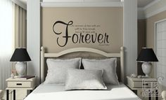 Wall Decal Quote No Measure of Time  Wall Sticker  ... Not a twlight fan but I love this quote for over our bed!