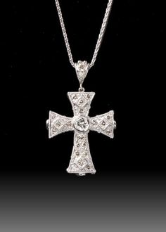 JPratt Designs: Custom designed and custom created platinum and diamond cross necklace