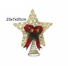 Puntale Stella Cordoncino Naturale 20cm Natale Albero Addobbi Decorazioni 480003 | eBay