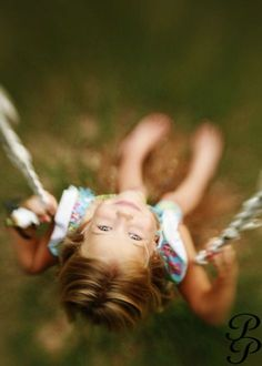 I love this shot of looking backwards from a swing!