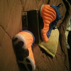 Nike Foam Posite Royal Blue/ Orange Nike Shoes Sneakers