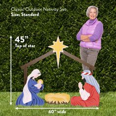 Outdoor Nativity Store Holy Family Outdoor Nativity Set Standard White * Want added info? Click the photo. (This is an affiliate link).