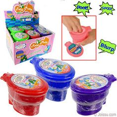 WHOOPEE TOILET NOISE PUTTY. Makes farting sounds when you squish & play with it. Assorted bright colors. Individually shrink wrapped. Each dozen includes display unit. Perfect for Christmas stocking stuffers and party favors.  Size 4 X 3 Inches, display unit 11.5 X 10 X 5.5 Inches