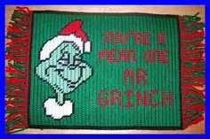 """plastic canvas placemats 